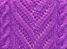 Model: Lavender   Cool knitting pattern