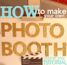 Easy to Make Photo Booth   How to make a diy Photo Booth {Do-it-yourself / Tutorial}   A Pop of ...