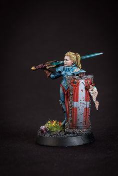 Alternative Crusader for Sisters of Battle (aka Adepta Sororitas). Name Joann de Moley