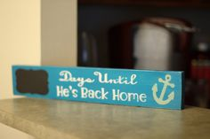 Coast Guard or Navy Deployment and Underway Chalkboard Countdown Sign on Etsy, $16.00