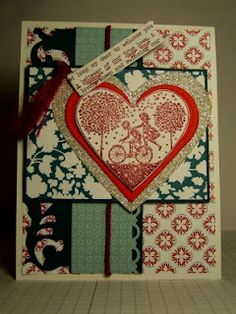 Inspirational Card Challenge Sketch Card - Lovely Stampin' Up! stamps, edgelets and dsp