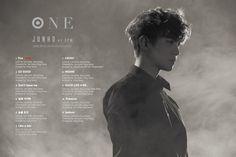 JUNHO (Of 2PM) Best Album <ONE> Track List #2PM @dlwnsghek #Fire