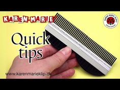 Quilling Long Comb (Quick Tip) - Karen Marie Klip & Papir Paper Quilling Tutorial, Paper Quilling Designs, Quilling Ideas, Quilling Letters, Origami And Quilling, Quilling Comb, Circle Template, Quilled Creations, Craft Day