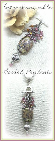 Seed Bead Necklaces are fantastic because you can Interchange them. Start with a Stainless Steel or Leather Chain start attaching your Seed Bead Pendants.