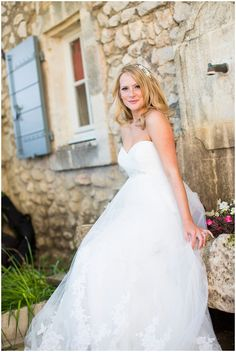 Pronovias wedding gown in France | Image Mike Garrard Photography