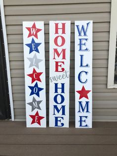 Wooden Welcome Signs, Porch Welcome Sign, Wooden Signs, Diy Home Crafts, Wood Crafts, Fall Canvas Painting, Scrabble Crafts, Front Porch Signs, Painted Wood Signs
