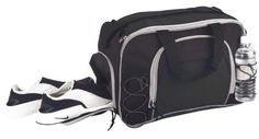 "18"" Medium Two Tone Sports Duffle Bag in Black DALIX"