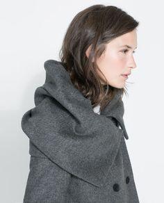 Image 5 of WOLLEN WRAPAROUND COAT from Zara