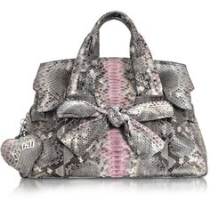 Ghibli pink and grey large python bag<3