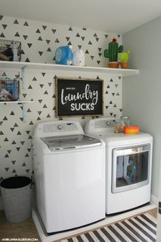 Laundry Room Reveal - A girl and a glue gun