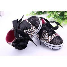 Incaltaminte pentru copii mici, fetite si baietei, cu imprimeu floral sau de leopard, cu paiete, incaltaminte cu talpa moale pentru primii pasi, pantofi din bumbac