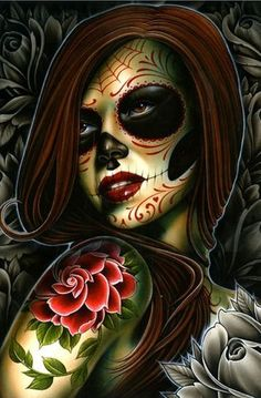 DeviantArt is the world's largest online social community for artists and art enthusiasts, allowing people to connect through the creation and sharing of art. Sugar Skull Mädchen, Sugar Skull Makeup, Sugar Skull Tattoos, Day Of The Dead Mask, Day Of The Dead Girl, Day Of The Dead Skull, Kingpin Tattoo, Arte Lowrider, Aztecas Art