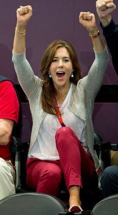 Crown Princess Mary of Denmark at the London 2012 Olympics