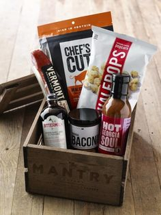 Mantry Father's Day artisanal food crate: Bourbon & BBQ theme. Great gift on its own, or you can get a monthly subscription.