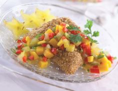 Gingered Grouper with Star Fruit Salsa | Healthy 100