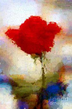 Abstract Flower 07978 Digital Art by Rafael Salazar