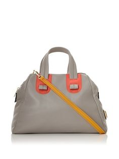 Meredith Wendell Women's Slouchy Fishbowl Small Satchel at MYHABIT. I love the gray with a touch of orange and golden yellow. Perky.