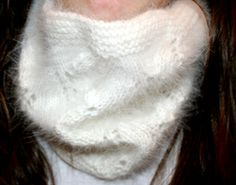 White Knitted cowl from Raverly site