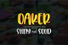 Introducing Oaker! A fun font duo including both shiny and solid letters! PERFECT for crafting, using cutting machines such as silhouette or cricut, sublimation and more! Font Design, Design Typography, Typography Fonts, Hand Lettering, Graphic Design, App Design, Cool Fonts, New Fonts, Sign Fonts