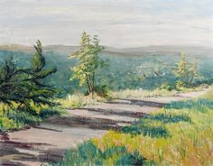 Early Morning Landscape Painting