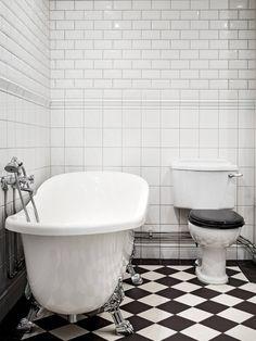 Downstairs Bathroom, Nordic Style, Bathroom Interior, Bathroom Ideas, Home Remodeling, Bath Mat, Bathtub, Interior Design, Furniture