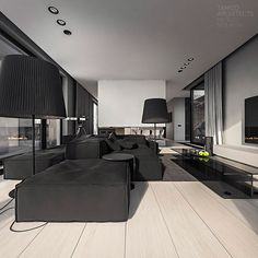 q-house interior design on Behance
