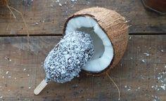 """Recette de mini Glaces Vegan Coco & Chocolat, façon """"bounty"""", mais bien moins sucrées pour une pause gourmande, rafraîchissante et healthy..."""