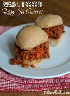 Recipe: Real Food Sloppy Joes! - 100 Days of Real Food