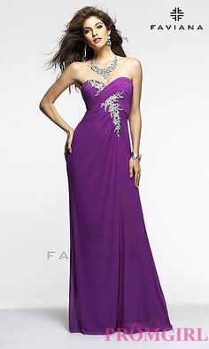 Long Strapless Sweetheart Formal Gown at PromGirl.com