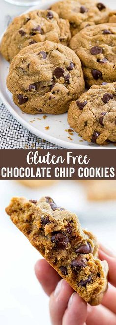 Gluten-free chocolate chip cookies are a classic treat that everyone can enjoy! The dough uses browned butter for added toffee and caramel flavors. These delicious treats are loaded with dark chocolate chips and will disappear in seconds! via @foodiegavin