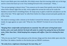 Spidey fic from A Little Home for the Sick & Injured - Part 8/10
