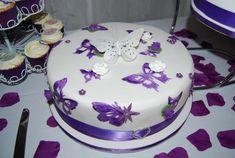 Cake Decorating: Purple Butterfly Wedding Cake