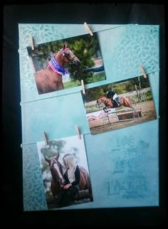 Decorated canvas photo display