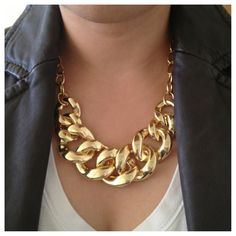 Gold Statement Necklace by itchelita on Etsy