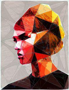 "Saatchi Online Artist: enrico varrasso; Vector, 2013, Digital ""pouting girl with hair clip"""