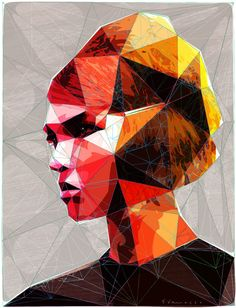 "Saatchi Online Artist: enrico varrasso; Vector, 2013, Digital ""pouting girl with hair clip"""