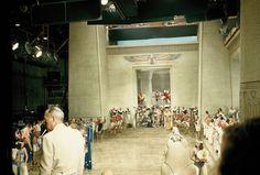 On set of The Ten Commandments