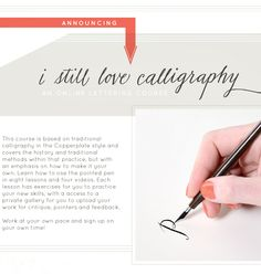 i want to try ONLINE MODERN CALLIGRAPHY CLASS BY MELISSA ESPLIN