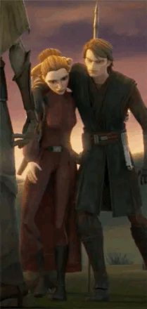 Anakin and Padme Star Wars Clone Wars, Star Wars Art, Star Trek, Anakin And Padme, Star Wars Drawings, Star Wars Books, Beautiful Series, Star War 3, Anakin Skywalker