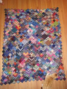 Wow! A feast for the eyes (and a great way to use up leftovers), in fact it is called the Sock Yarn Blanket and its free and u can get it here through Ravelry and they even have a group for it!!