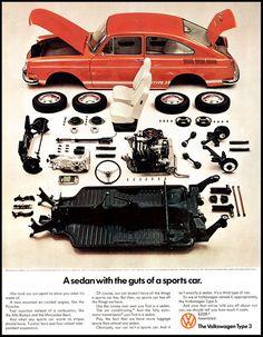 1970 Vintage Volkswagen Type 3 Print Ad Old by DoubleLMomEphemera