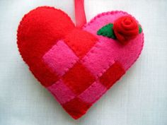 Felt Christmas Scandinavian Love Heart Swedish by AppledoorStudio, £7.99