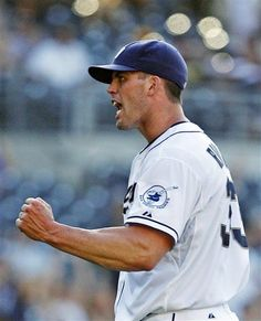 Game #114 8/8/12: San Diego Padres starting pitcher Clayton Richard pumps his fist after getting the final out in his 2-0 complete game victory over the Chicago Cubs in a baseball game, Wednesday, Aug. 8, 2012, in San Diego. (AP Photo/Lenny Ignelzi)
