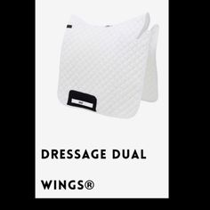 HRP® DRESSAGE DUAL WINGS®. Scientifically tested HRP® Pressure Reducing WING® Saddle Pads exert NO pressure behind the saddle over the lumbar spinous processes. Order online: www.hrpequestrian.com  Made in the UK 🇬🇧🐎🙌🏻