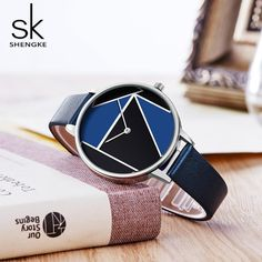 Shengke Leather Women Watches Top Brand Simple Casual Strap Watch Reloj Mujer 2018 Relogio Feminino Bracelet Dress Watch Women Outfit Accessories From Touchy Style Simple Watches, Cute Watches, Cheap Watches, Best Watches For Men, Stylish Watches, Business Casual Outfits For Women, Rose Gold Watches, Trendy Accessories, Beautiful Watches