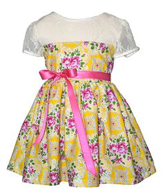 Daffodil Clementine Dress - Toddler & Girls by Magpie & Mabel #zulily #zulilyfinds