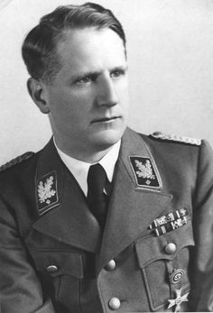 """SS-Obergruppenführer Dr Leonardo Conti was the Reich Health Leader. A Swiss Italian by birth, he was an early member of the Nazi party and an """"old fighter."""" He became keenly involved in the T4 Action, i.e. the killing of mental patients and other """"unworthies,"""" and eventually attained the post of the  Leader of the Main Office for the People's Health. After the war he was arrested but escaped trial by thankfully hanging himself in his cell in October 1945."""