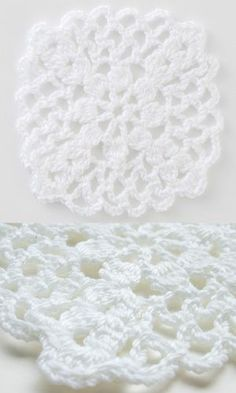 Japanese lacy flower square, DC clusters & chains. Free pattern diagram from Pierrot Goyso, downloadable PDF at *this link*  :: http://www.gosyo.co.jp/img/acrobat/28ss/51-52.pdf   . . . .   ღTrish W ~ http://www.pinterest.com/trishw/  . . . . #crochet #motif