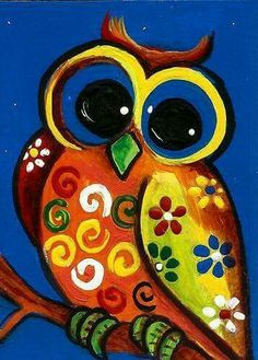 """Owl Art"" ~ by Anita by Pato Garabato Painting For Kids, Art For Kids, Whimsical Owl, Owl Crafts, Arte Popular, Owl Art, Fabric Painting, Painting Inspiration, Art Lessons"