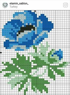 Cross Stitch Rose, Cross Stitch Flowers, Cross Stitch Charts, Cross Stitch Designs, Alpha Patterns, Cross Stitch Patterns, Embroidery Applique, Cross Stitch Embroidery, Cross Stitch Beginner